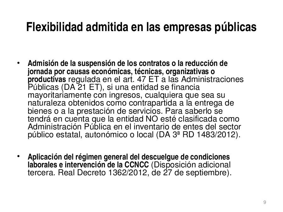 A extinción colectiva: marco legal, marco regulamentario e xurisprudencia
